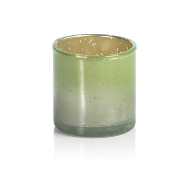 Color Burnt Antique Tealight - Votive Holder - Green