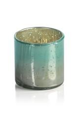 Color Burnt Antique Tealight - Votive Holder - Blue