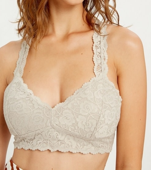 Scalloped Lace Racerback Bralette