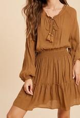 Smocked Waist Ruffle Dress Gucci