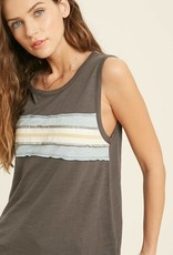 Contrast Front Panel Muscle Tank Top