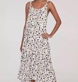 Tribal Babydoll Faux Silk Dress Stone
