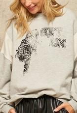 """""""Get Em"""" French Terry Sweatshirt H Grey"""