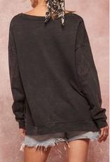 Mineral Washed Dreamer Sweatshirt Charcoal