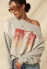 Dreamer French Terry Sweatshirt H Grey