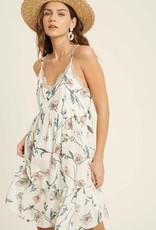 Floral Dress Mini Ivory
