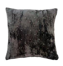20 x 20 Velvet Cross Pillow Grey