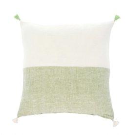 20 x 20 Layla Linen Pillow Green