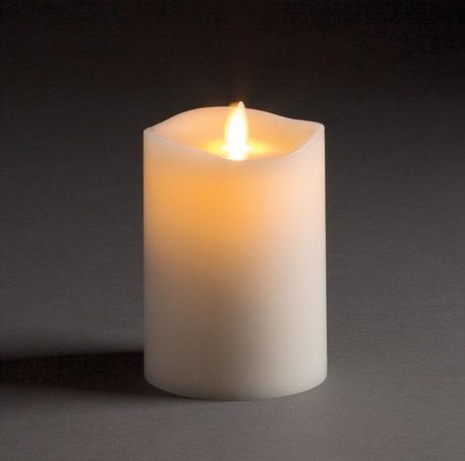 Lightli Moving Flame Pillar Candle 3.5 x 5