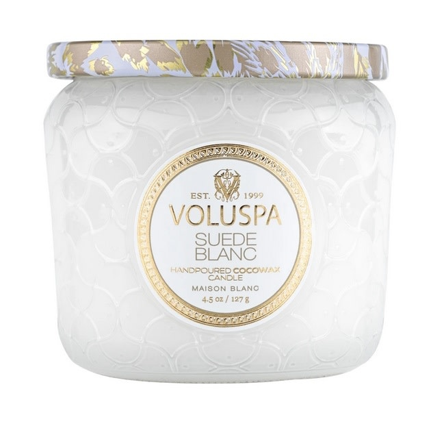 Suede Blanc Petite Candle Jar