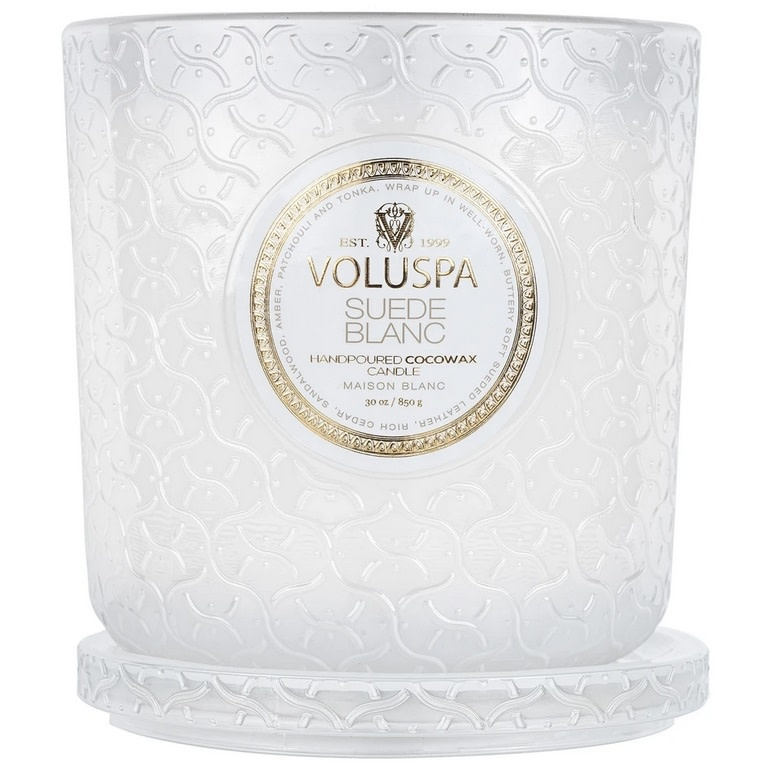 Suede Blanc Luxe Candle