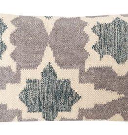 Handwoven Indigo Patterned Pillow 14 x 20