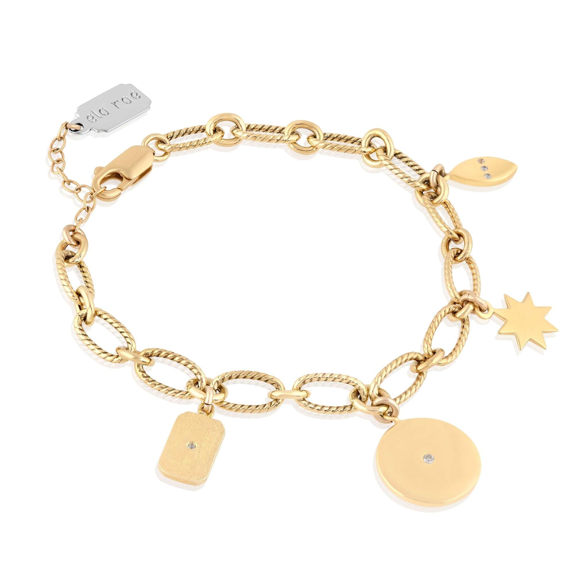 Multi Charm Bracelet Gold