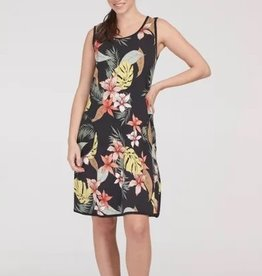 Tribal Reversible A-Line Dress Hibiscus