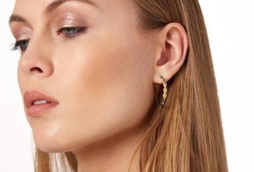 Freida Rothman Signature Marquise Hoop Earrings