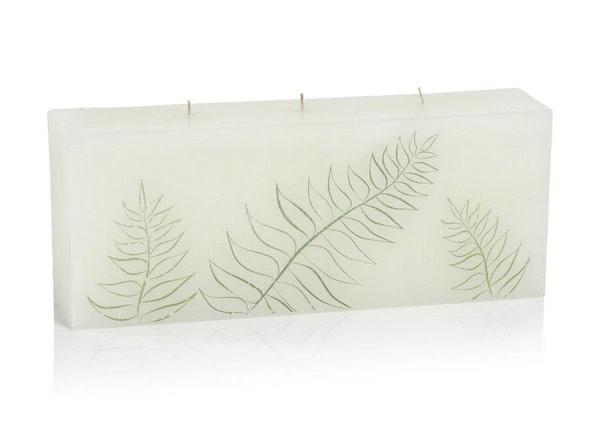 Celine Leaf Silhouette Pillar Candle - 3 Wick