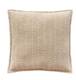 Hand Quilted Stripes Cotton Pillow 20 x 20