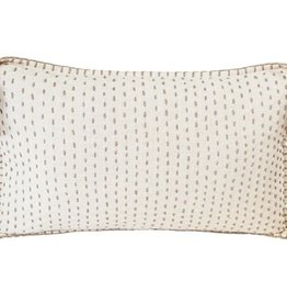 Hand Quilted Pillow w/ Tassels 12 x 20