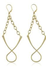 Wishbone Earrings Gold