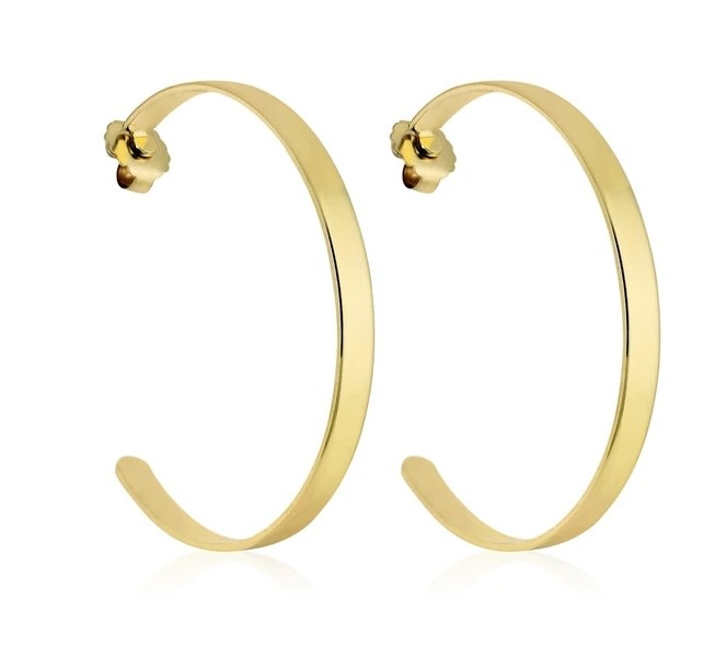 "Basic Betty Hoop Earring 2"" Gold"