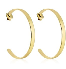 "Basic Betty Hoop Earring 2.5"" Gold"