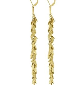 Leaf Dangle Earring Gold