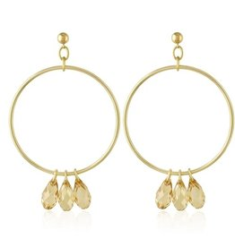 Crystal Hoops Dreams Gold