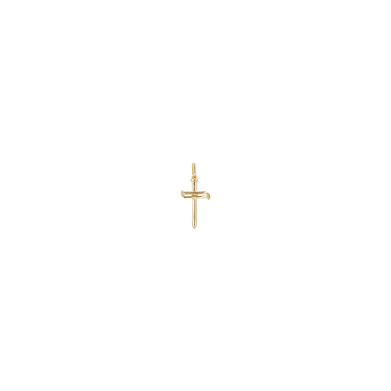 Uno de 50 Medium Cross Charm Gold