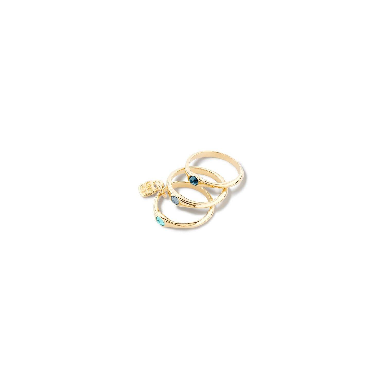 Uno de 50 Happy Blue Rings Gold Set/3