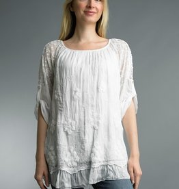 Lace Embroidered Tunic White