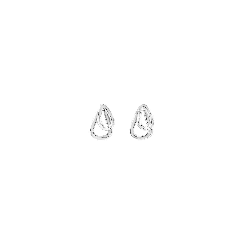 Uno de 50 Connected Earrings Silver