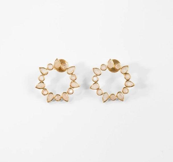 Athena Earring - Moonstone
