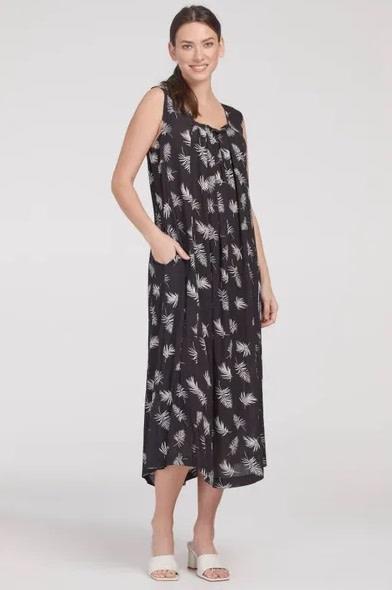 Tribal Sleeveless Maxi Dress - Stone/Black