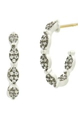Freida Rothman Industrial Finish Allover Pave Hoops