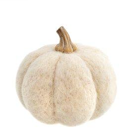 Felt Pumpkin White Large
