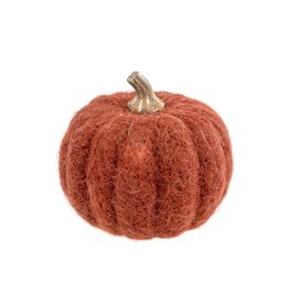 Felt Pumpkin Russet Medium