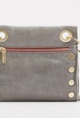 Hammitt Tony Leather Crossbody Pewter/Brush Gold Red Zip Small