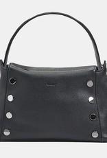 Hammitt Bryant Pebbled Leather Shoulder Bag Black