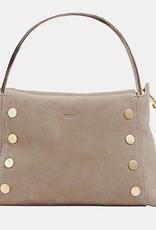 Hammitt Bryant Pebbled Leather Shoulder Bag Grey/Natural