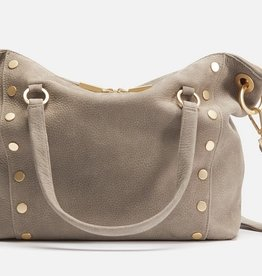 Hammitt Daniel Leather Tote Grey/Natural Medium