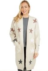 Avery Star Print Jacket Beige