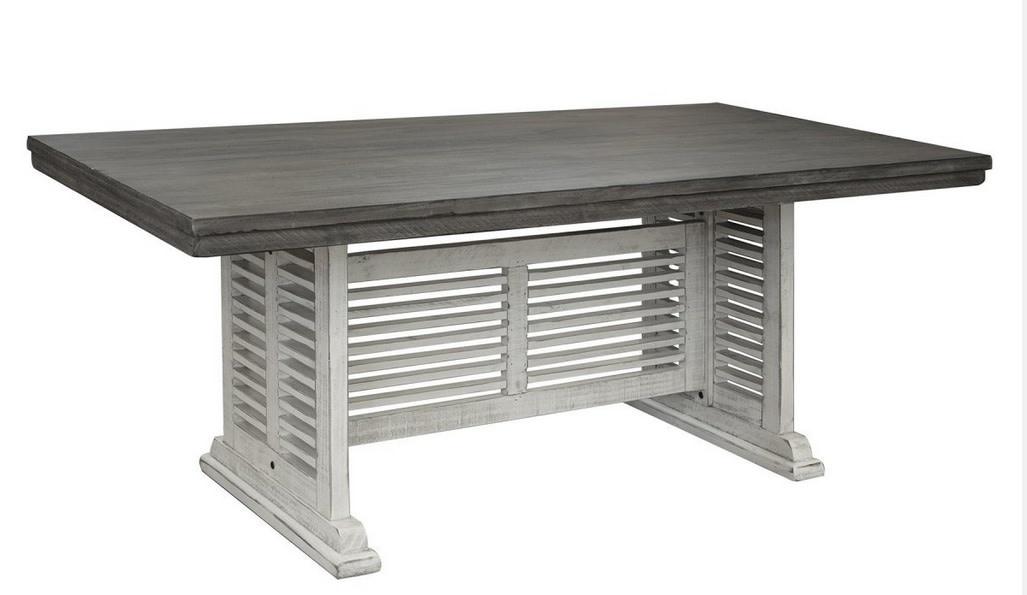 Rectangular Table w/ Slated Base Stone