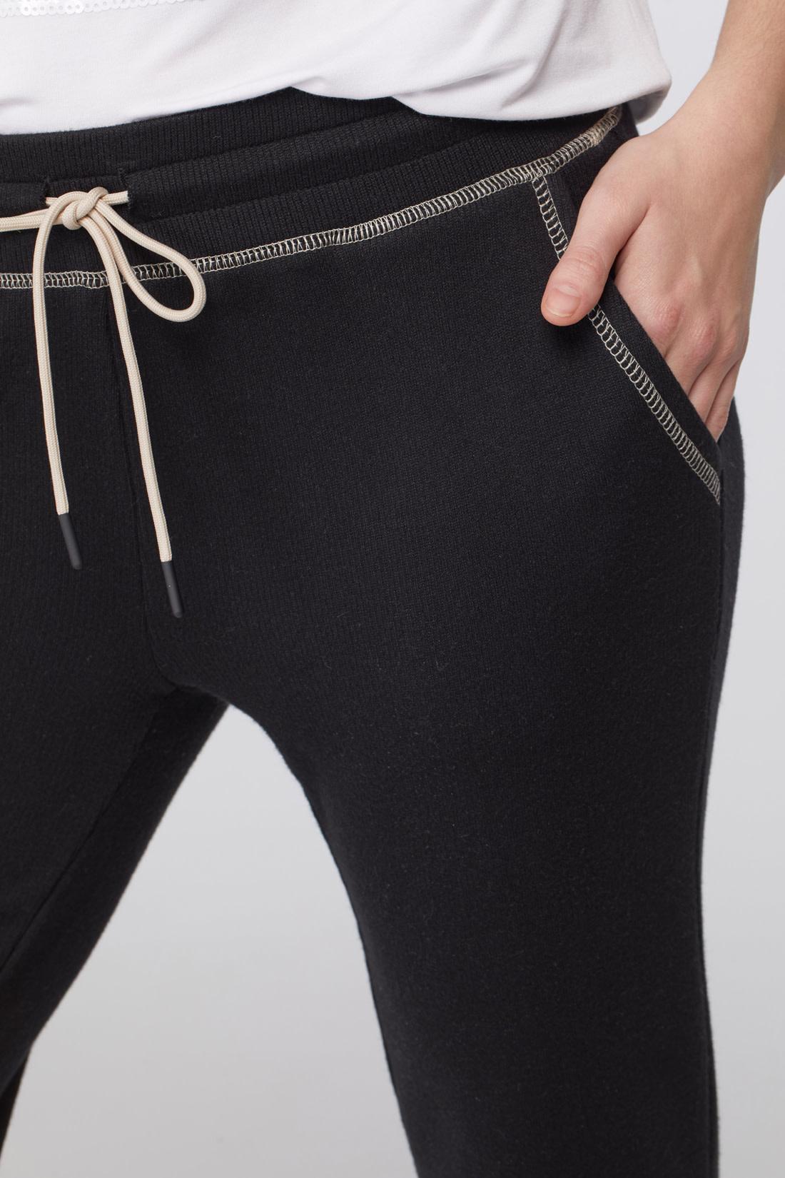 Tribal Jogger w/ Contrast Stitching Black