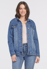 Tribal Girlfriend Jacket w/ Button Sleeves Relax Blue