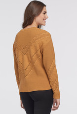 Tribal Sweater w/ Pom Pom Ochre