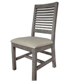 Ladder Backrest Chair Dark Stone
