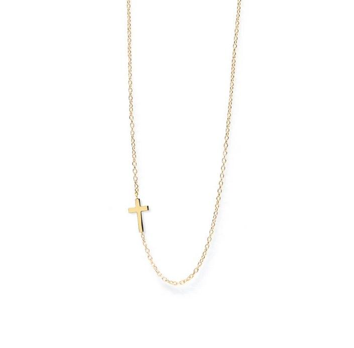 Love Letter Cross Necklace 14kt