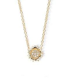 Hope Sunflower Necklace 14 Kt/Diamond (Small)