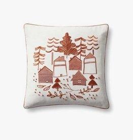Cabin Scene Pillow Spice - 18 x 18