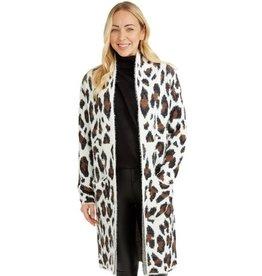 Venice Leopard Print Coat White